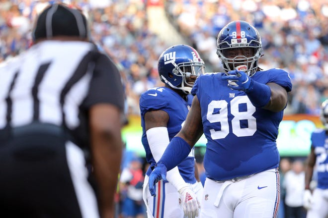 Defensive tackle Damon Harrison spent the past 2 1/2 seasons with the Giants.