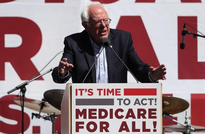 Sen. Bernie Sanders, I-Vt., in San Francisco on Sept. 22, 2017.