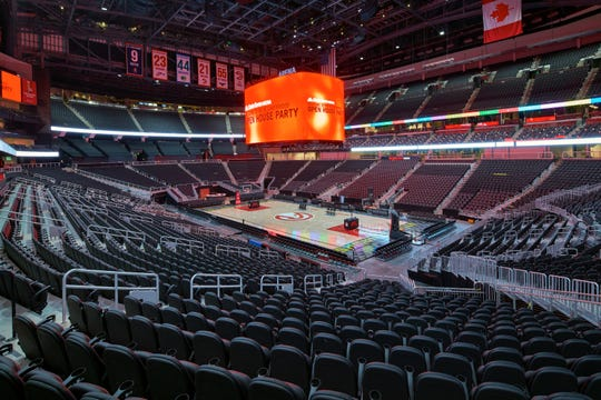 The Atlanta Hawks' renovation project cost about $200 million for significant improvements to State Farm Arena.
