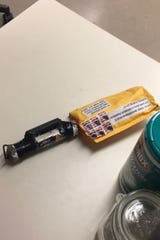 Suspected explosive device received at CNN bureau in New York City. Oct. 24, 2018.