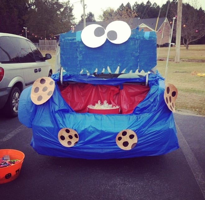 "A ""Cookie Monster"" themed car done by Megan Parrott in Coward, S.C."