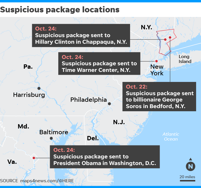 Suspicious packages delivered to Clintons, Obamas, CNN ...