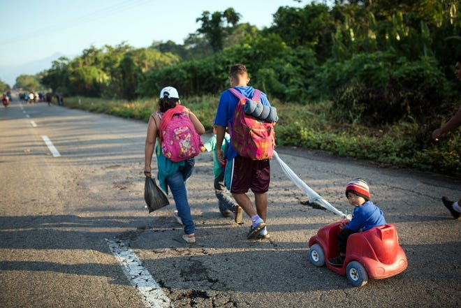 Central Americans migrating in Mexico on Oct. 24, 2018.