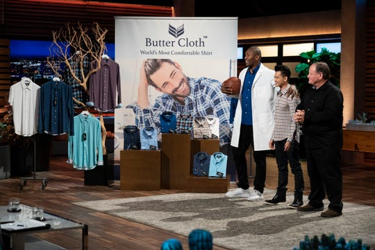 """Vietnamese immigrant Dahn Tran pitches the sharks his buttery-soft dress shirts in hopes of realizing his American dream, and he brings along former NBA star Metta World Peace for support on """"Shark Tank."""""""