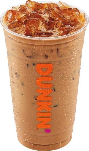 A Dunkin' iced latte.