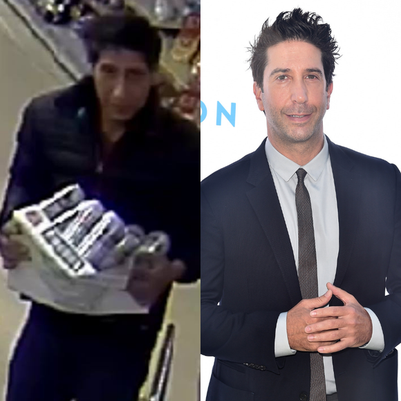 A crime suspect and his doppelgänger David Schwimmer.