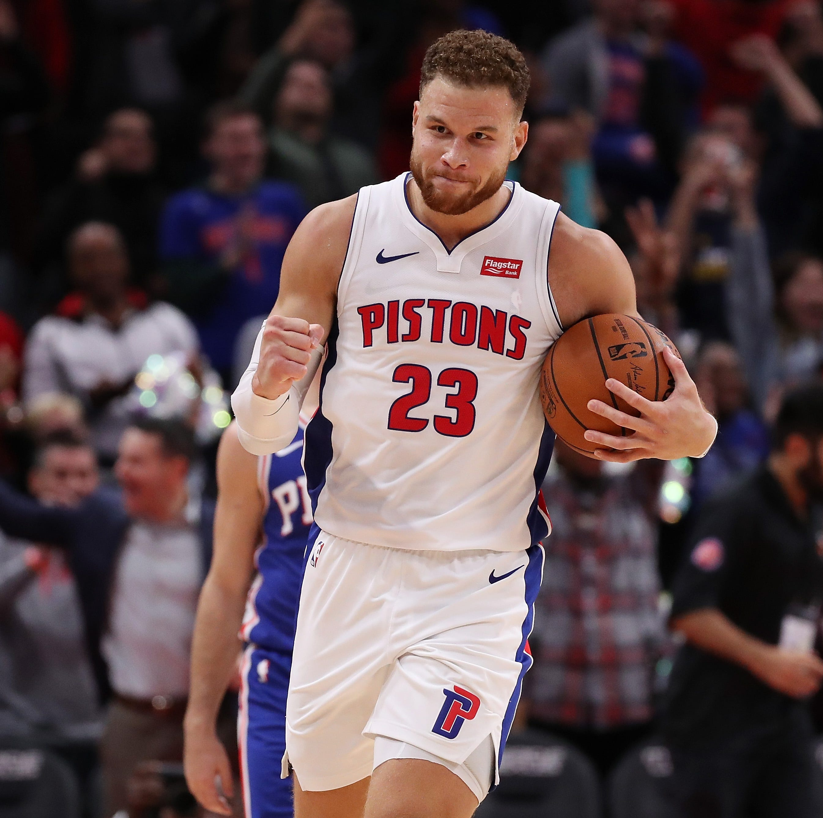 Blake Griffin's career-high 50 points powers Pistons to overtime win over 76ers