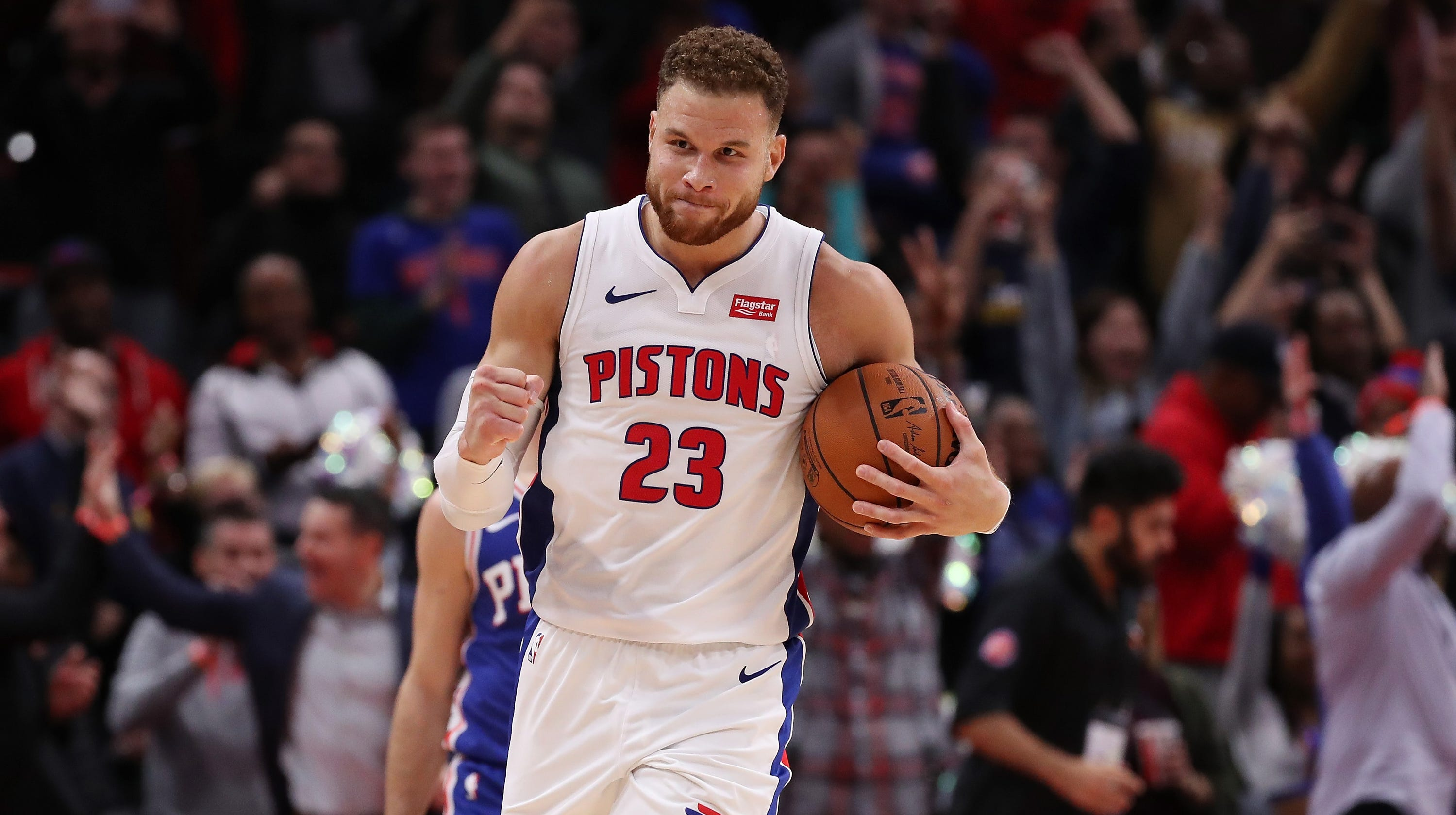 45cecd93407b Blake Griffin s career-high 50 points powers Pistons to overtime win over  76ers