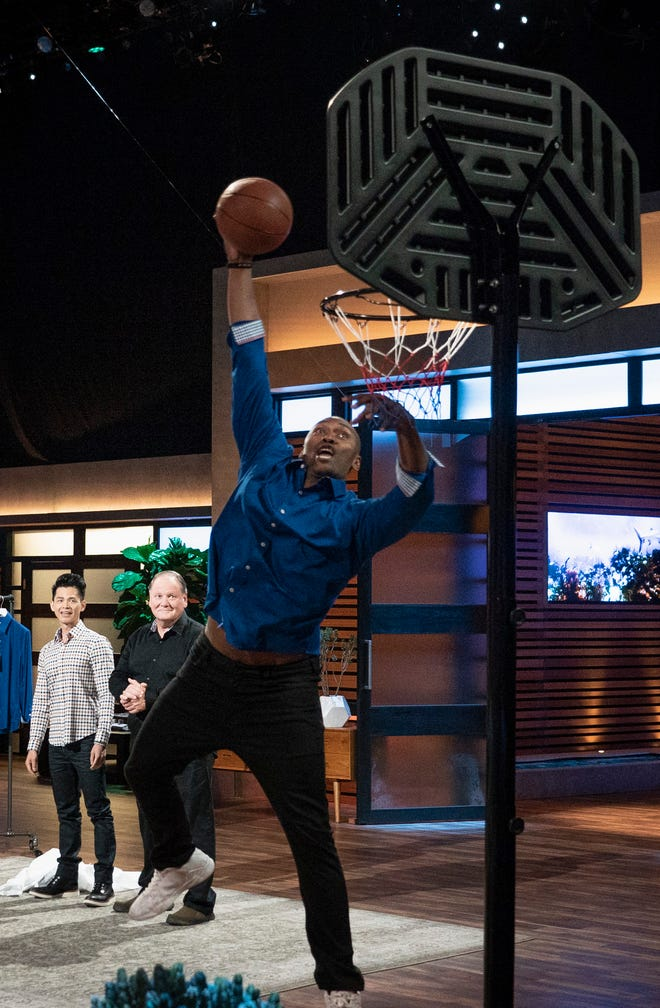 """Metta World Peace hits a slam-dunk for the Butter Cloth """"Shark Tank"""" pitch."""