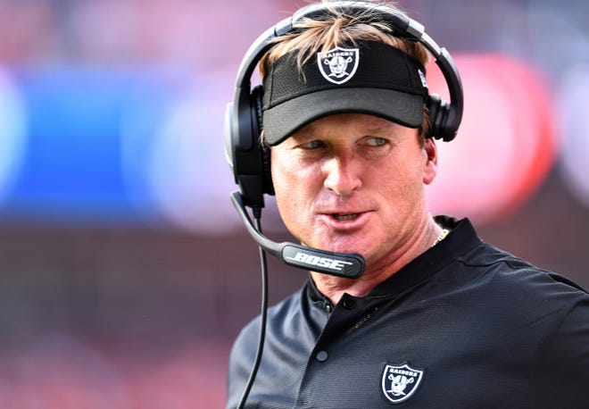 Oakland Raiders coach Jon Gruden is seen during a game.