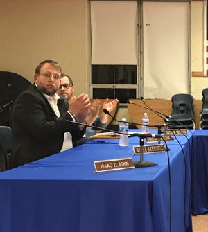 Lakewood Board of Education member Moshe S. Newhouse during the Oct. 24, 2018 school board meeting.
