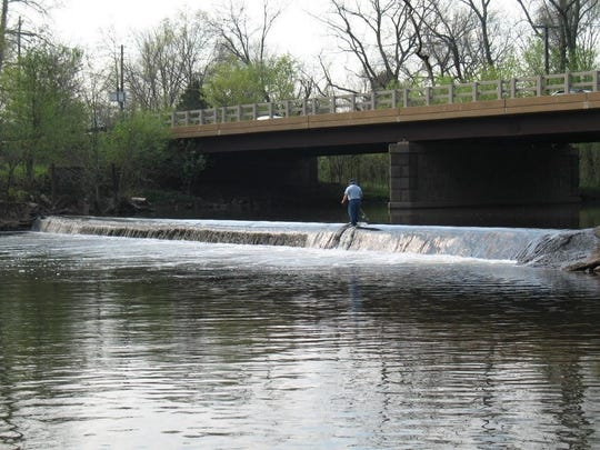 Weston Mill Dam on the Millstone River in Manville before it was removed.