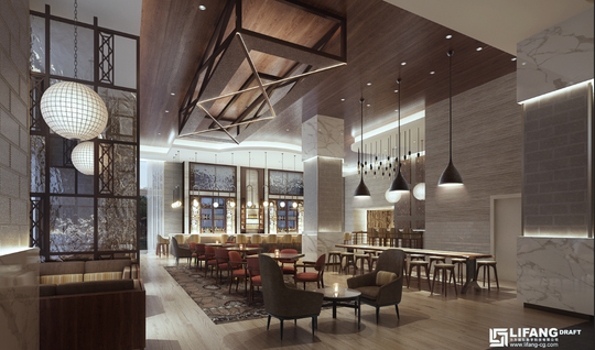 A rendering of the forthcoming District 42 in the Hotel Arras.