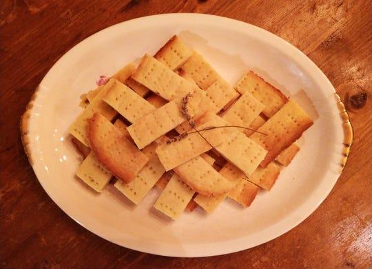 A platter of Scottish shortbread.