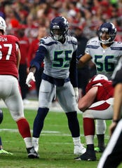 5b8b2c574 Seahawks defensive end Frank Clark is playing his best football during the  final year of his