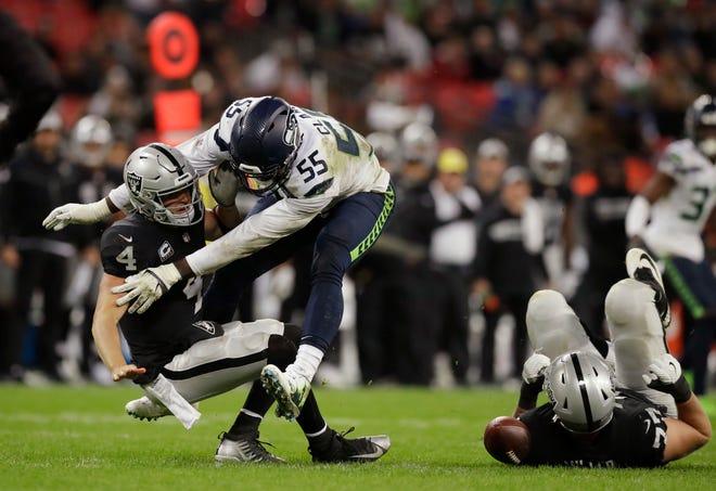 Seahawks defensive end Frank Clark has 12 sacks in his last 15 games.