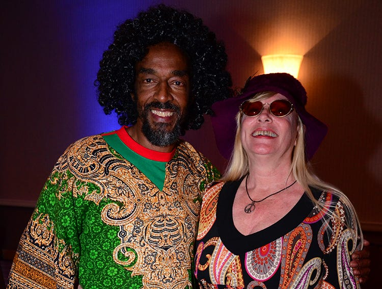 As groovy as they could get were Lawrence Mccalla and Raylene Coe Saturday evening at the Melbourne Hilton Rialto. (photo by Tony Dees/for Florida Today)
