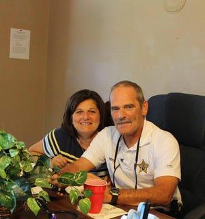 Brian and Tammy Paridon of Washington County, Florida. Friendly faces after Hurricane Michael.