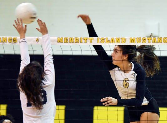 High School Volleyball Eustis At Merritt Island