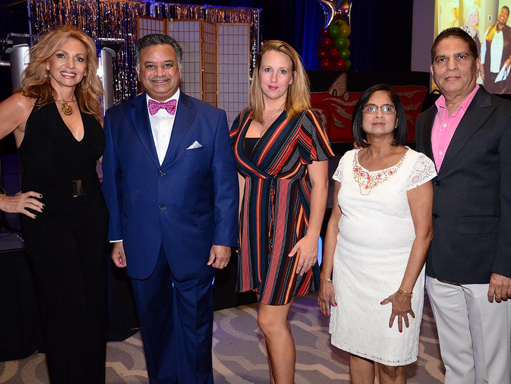 Charlotte Wienckoski, Glad Kurian, Gillian Justice, Geetashah and Ashok Shah were in attendance for Family Partnership's 4th Annual Decades in Revue Lip Sync Battle benefit held Saturday evening at the Melbourne Hilton Rialto. (photo by Tony Dees/for Florida Today)