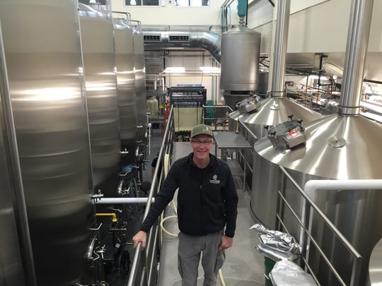 Sean Lawson stands in the new Lawson's Finest Liquids brewery in Waitsfield on Oct. 24, 2018.