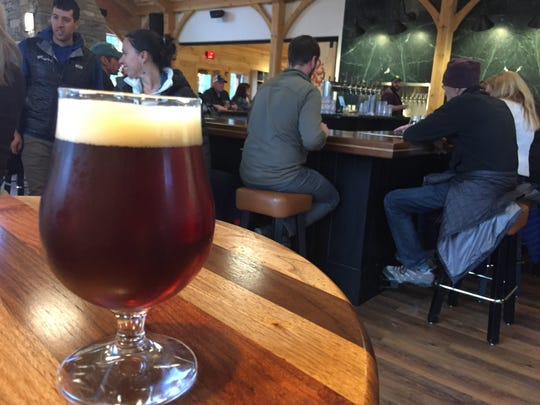 The Maple Nipple amber ale at Lawson's Finest Liquids' taproom in Waitsfield on Wednesday, Oct. 24, 2018.