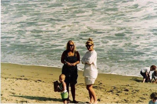 From left: Dutch Suckley, Lisa Dorrin and Kathleen Suckley on the beach.
