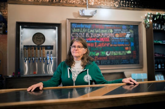 Pola Galie, 65, inside her family brewery Lower Forge in Medford, N.J.