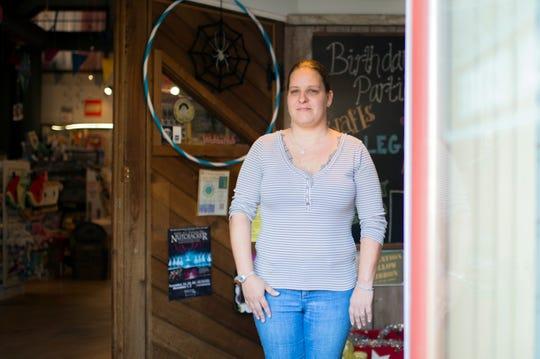 Jessica Breaux, 35, co-owner of Wonder World Toys in Medford, N.J.