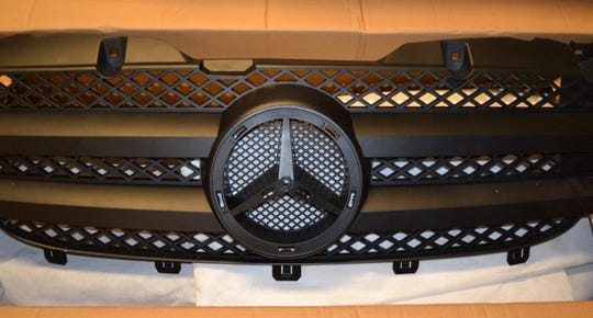 A grille assembly was among counterfeit Mercedes-Benz parts seized in Philadelphia recently.