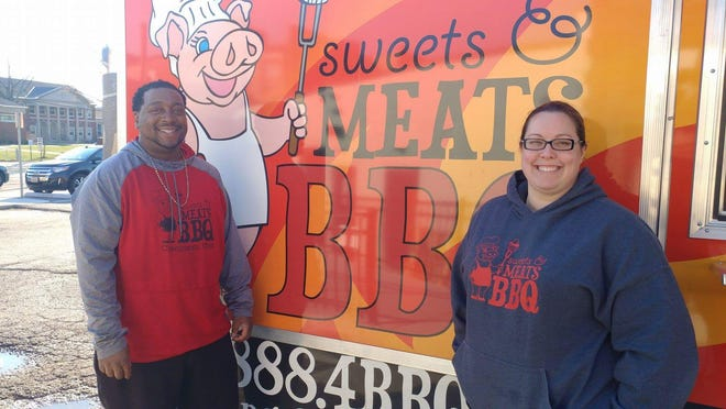 Anton Gaffney and Kristen Bailey of Sweets & Meats BBQ.
