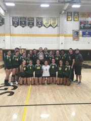 J.P. Stevens poses after winning the GMCT girls volleyball title.