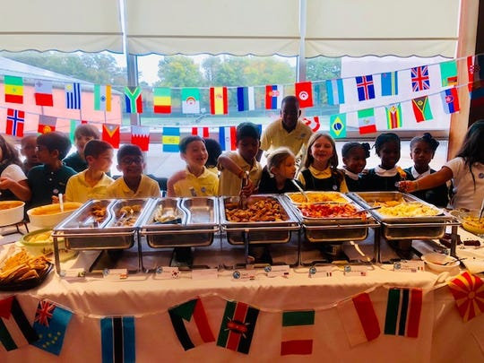 The second grade classes at Wardlaw+Hartridge held their annual United Nations Day Luncheon on Wednesday, Oct. 24.