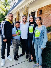 Noreen Iqbal with her husband Rizwan Chaudhry and her children Faizan, Ziam and Zoya Chaudhry