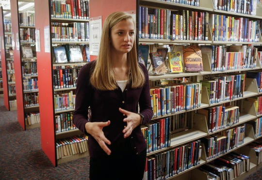 Ellie Hildebrandt talks about how much time she spends at the Des Moines Public Library on the south side, where she spends a lot of time reading, studying, and volunteering.