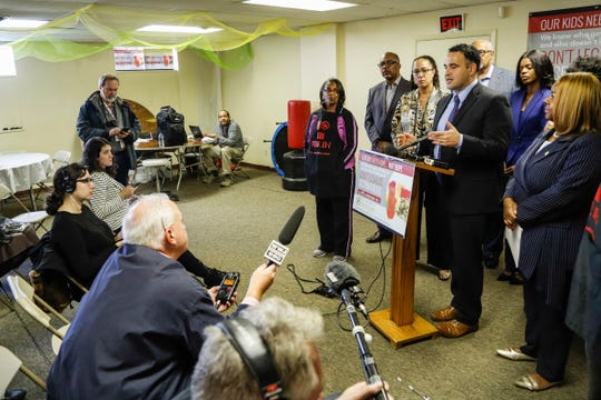 Kevin Sabet, co-founder of Smart Approaches to Marijuana answers a question during a press conference held by Healthy and Productive Michigan and Smart Approaches to Marijuana in Detroit on Tuesday Oct. 23, 2018.