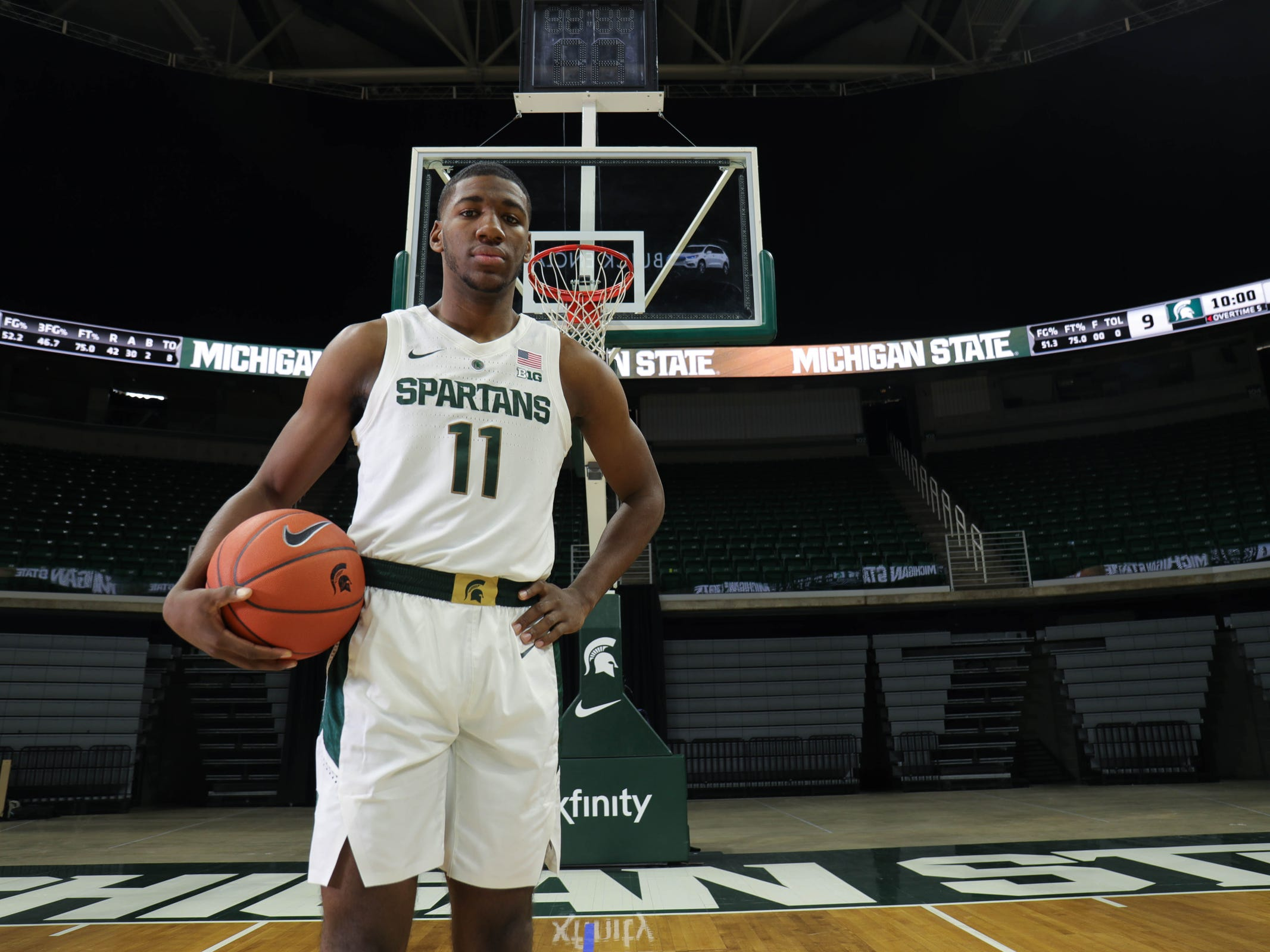 Michigan State's Aaron Henry at media day Thursday, Oct. 25, 2018 at Breslin Center in East Lansing.