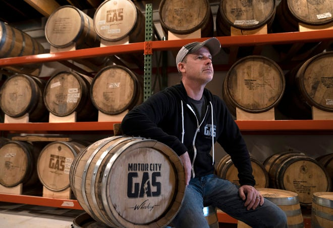 Motor City Gas owner Rich Lockwood is seen in the barrels storage room in his business in Royal Oak on Wednesday, October 24, 2018. Lockwood wants to offer a food truck for customers on his property but Royal Oak bans them downtown.