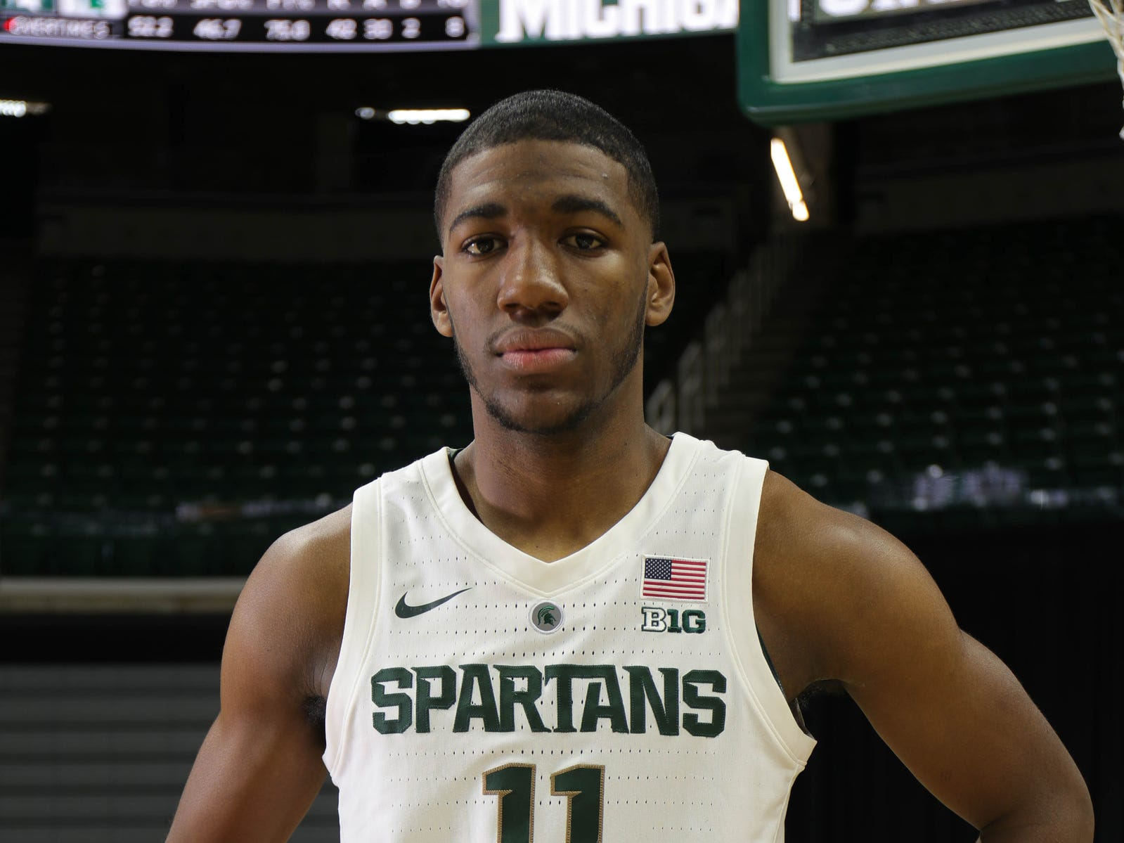 Michigan State forward Aaron Henry at media day Thursday, Oct. 25, 2018 at Breslin Center in East Lansing.