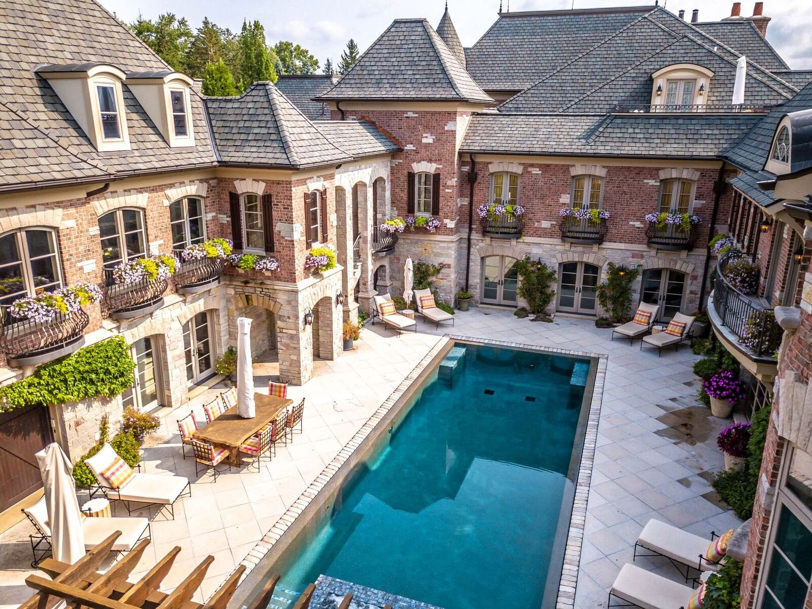 This Italian villa is located at 2756 Turtle Bluff Dr. in Bloomfield Hills.