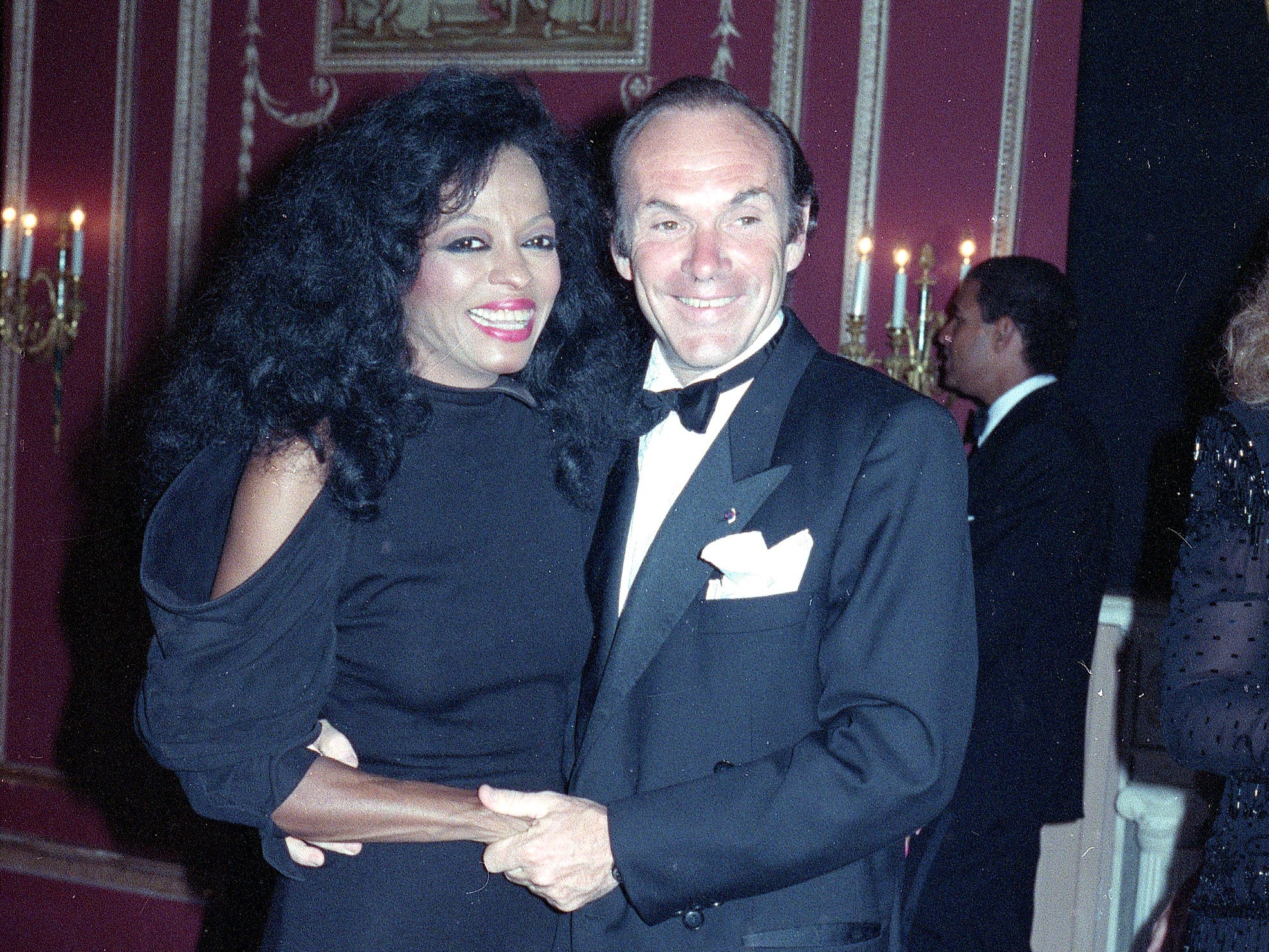Diana Ross is seen with her husband Arne Naess in 1990 in New York. The couple divorced in 1999.