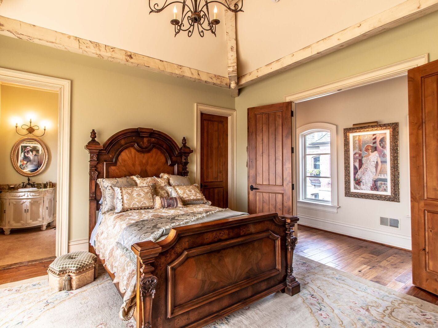 Another of the six bedrooms.