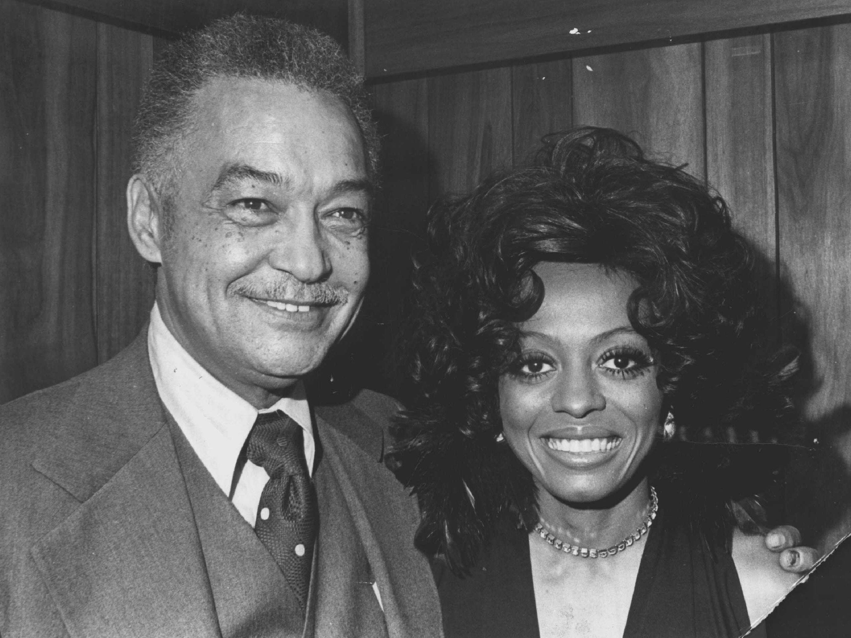 Detroit Mayor Coleman Young had his photo taken with Diana Ross when she was in town for a performance at the Masonic Temple auditorium in 1974.