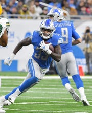 Because of the Lions' depth at the position, and his physical build, don't expect rookie running back Kerryon Johnson to match his 19 carries and three targets against the Dolphins too often.