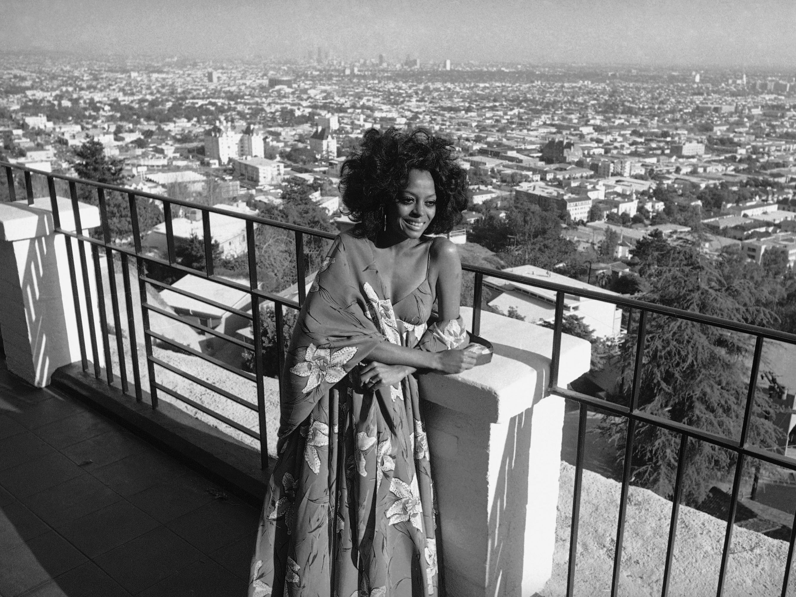 "Hollywood had become home for Diana Ross, seen here in 1971. Her solo career started with hit singles ""Reach Out and Touch Somebody's Hand,"" and ""Ain't No Mountain High Enough."" In 1971, she also married music executive Robert Ellis Silberstein."