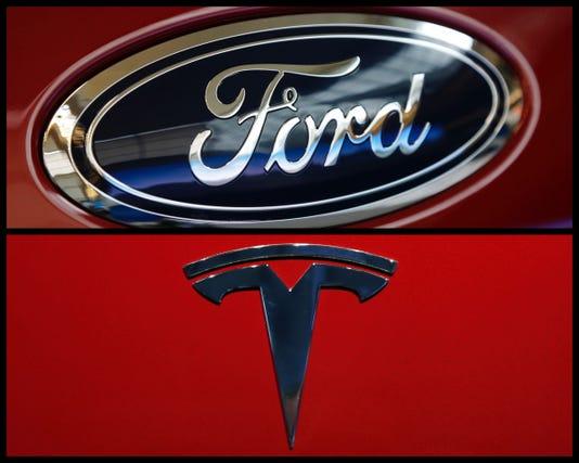 Ford Tesla Logo