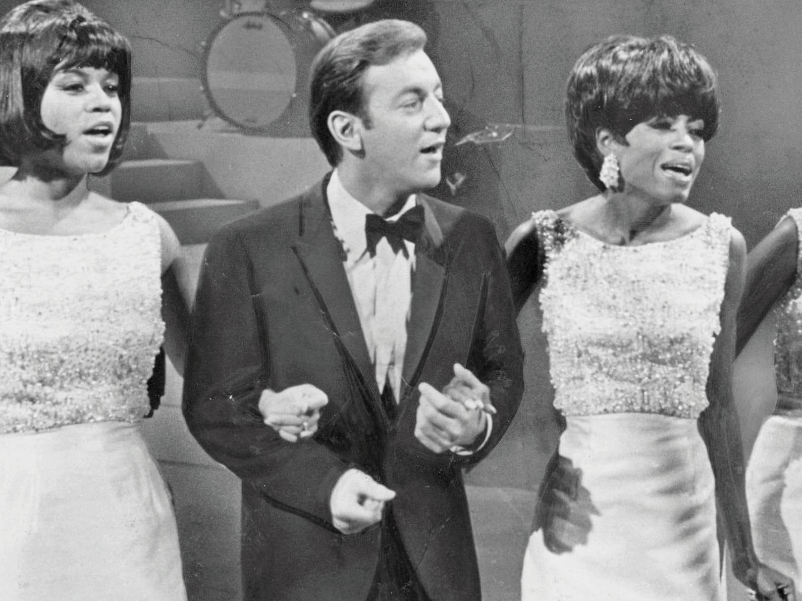 The Supremes perform with Bobby Darin in February 1967.