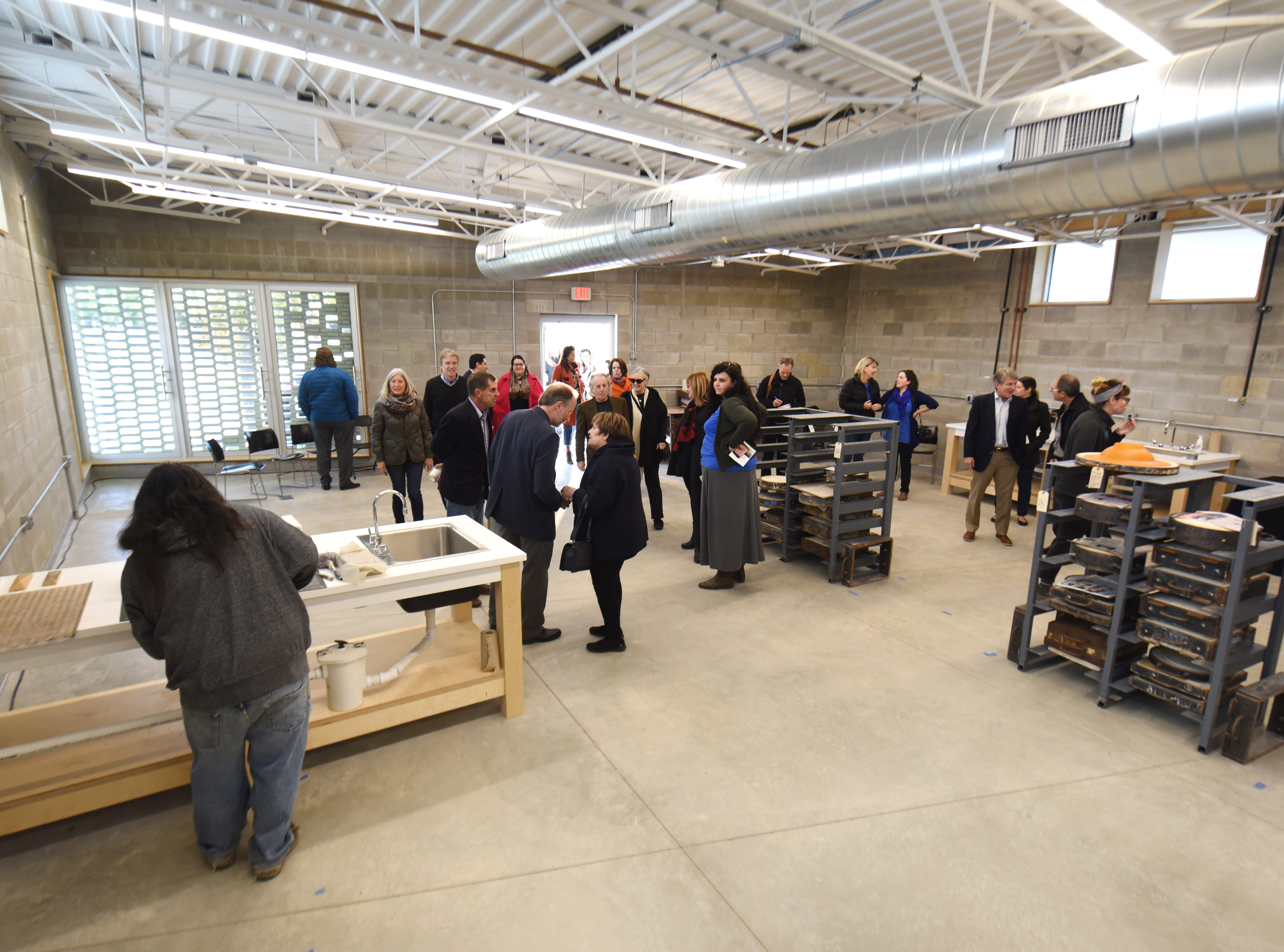 The Maxine and Stuart Frankel Pewabic Tile Studio, opens its 2,500 square-foot addition after their ribbon cutting ceremony