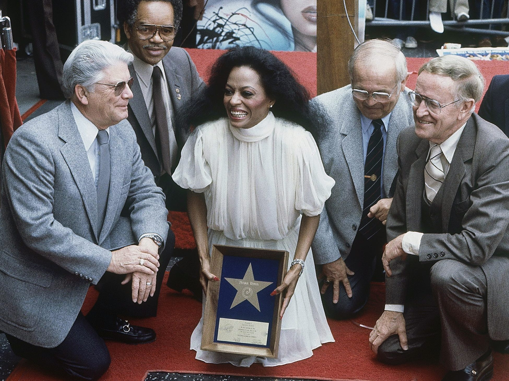 On May 6, 1982, Diana Ross is given her star on Hollywood's Walk of Fame. Among her achievements is a dozen Top 10 singles from 1970 to 1985.