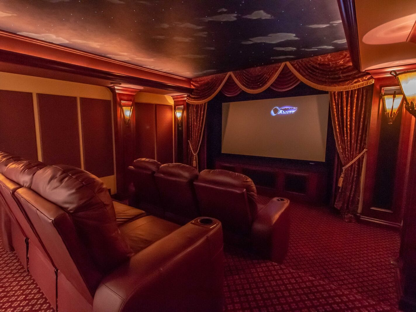 The home also features a theater.